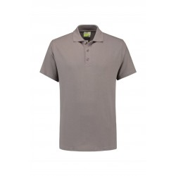 POLOSHIRT L&S BASIC SS FOR HIM 3540 PEARL GREY